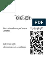 20161 - Tópicos Especiais - Aula 6 - Documentação, Análise e Negociação - Analisando Para Documentar Corretamente