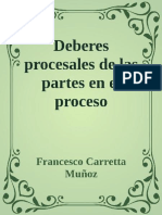 Deberes Procesales de Las Partes en El Proceso