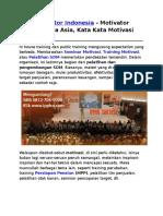 Motivator Indonesia, Motivator Indonesia Asia, Kata Kata Motivasi