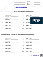 Place Rearranging Digits