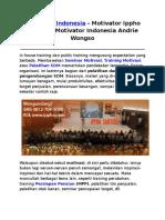 Motivator Indonesia, Motivator Ippho Santosa, Motivator Indonesia Andrie Wongso