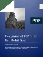 Designing of FIR Filter