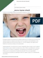 Síntomas Del Trastorno Bipolar Infantil - Etapa Infantil