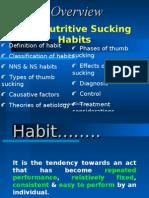 Non-nutritive Habits Pedo