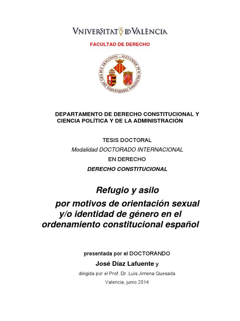 Refugio y Asilo Por Orientación Sexual_JOSE DIAZ LAFUENTE