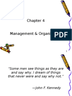 Chap 4 - Management & Organization