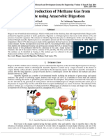 Design and Production of Methane Gas from Food Waste Using Anaerobic Digestion