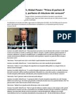 Video Intervista Gaetano Zoccatelli, Global Power a Tele Arena