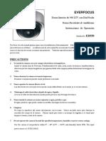 CAMARA EverFocus ED550manual MED5G00500 Ver A1 Spanish