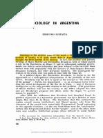Sustaita - Sociology in Argentina - 1963