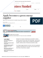 Apple Becomes a Green Energy Supplier _ Business Standard News