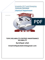 CENTERED MAINTAINANCE RELIABILITY