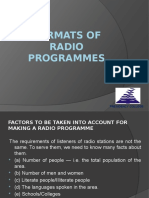 Types of Radio Programmes