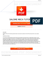 Salome Meca Tutorial