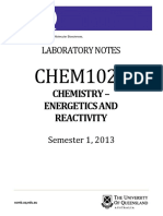 CHEM1020 s1 2013 Lab Manual