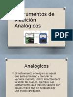 Instrumentos de Medición Analógicos