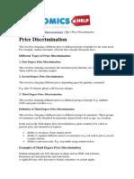 Unit 3 Price Discrimination