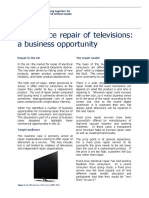 Business Case Study - Fixed Price Repair of Televisions Final
