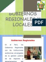 Gobiernos Regionales y Locales (Funciones)
