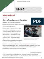 Entre o Terrorismo e as Migrações — CartaCapital