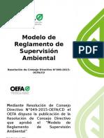 PPT Modelo de Reglamento de Supervisión Ambiental_Regionales