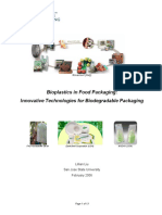 Bioplastics in Food Packaging pdf | Cellulose | Recycling