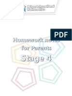 Homework Notes for Parents Stage4