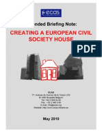 Briefing Note about the creation of a European Civil Society House