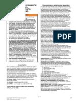 ADVERTENCIAS E INFORMACIÓN Sobre Uso y Mtto de Pastecas