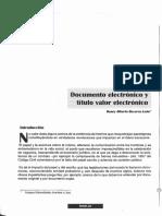 Documento Electrónico vs Título Valor Electrónico.