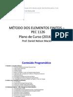 Pec1126 - Método Dos Elementos Finitos_2016.2