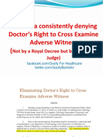 California Judges Denying Doctor's Right to Cross Examine Complete