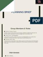 Planning Brief