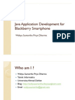 Java Application Development for Blackberry Smart Phone