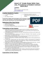 study skills  policies 16-17 otiniano 8th grade