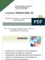 Introduccion Med. Emergencia