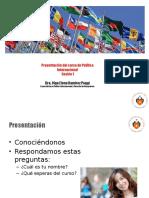POLÍTICA INTERNACIONAL - Sesion 1