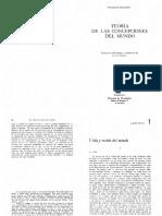 Dilthey Teoría de Las Concepciones Del Mundo caps. 1, 2 y 3