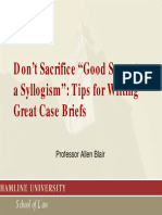Tips for Writing Great Case Briefs