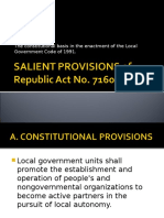 Salient Provisions of Republic Act No 7160