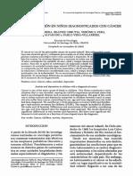 Pamela Cabrera. Ansiedad y Depresión en Niños Diagnosticados Con Cáncer