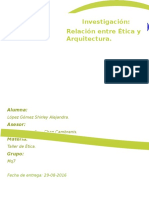 Investigacion Relacion de Etica y Arquitectura
