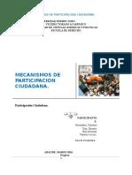 Mecanismos de Participacion Ciudadana Dividido