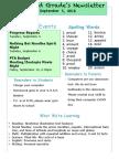 newsletter template september 5
