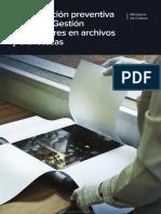 Conservación Preventiva y Plan de Gestión de Desastres en Archivos y Bibliotecas