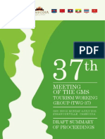 37th Working Group on Tourism - Meeting Report 20176
