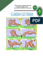 Enam Langkah Cuci Tangan