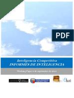 Inteligencia Competitiva. INFORMES DE INTELIGENCIA