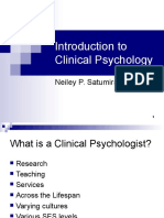 Introduction to Clinical Psychology Notes 1