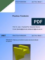 Practica Fundicion Pieza Estructural 1 Mayo 2015